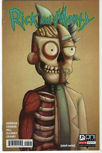 Rick and Morty #2 3rd Print Julieta Colas Split Face Variant Oni Press Comics