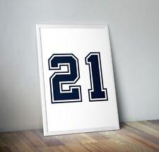 Ezekiel Elliott Color Rush Jersey Poster 18x24 Dallas Cowboys Zeke d2e939fcf