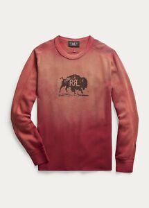 RRL Ralph Lauren Honeycomb Waffle Knit Crewneck Sweatshirt-L