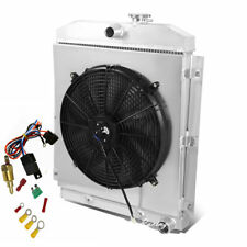 3 Row Radiator+Shroud+Fan+Thermostat Fits 47-54 Chevy Truck 3100 3600 3700 3800