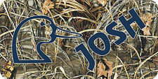 NEW CUSTOM PERSONALIZED MONOGRAMMED CAMOUFLAGE LICENSE PLATE  CAMO DUCK HUNTING