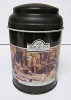 "AHMAD TEA LONDON Canister Tin Storage EARL GRAY ""THE PICNIC"" Empty 5.5"" x 3.5"""