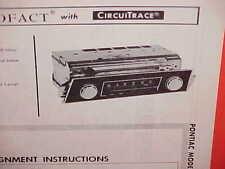 1967 PONTIAC FIREBIRD CONVERTIBLE SPRINT 326 RAM AIR 400 AM RADIO SERVICE MANUAL