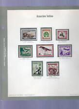 8 francobolli america latinaviaggiati- 4 euro