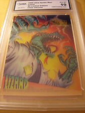 LIZARD 1995 ULTRA SPIDER-MAN CLEAR CHROME LIMITED EDITION # 5 GRADED 10