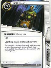 Android Netrunner LCG - 1x inside man #053 - Cyber era RUNNER Draft Pack