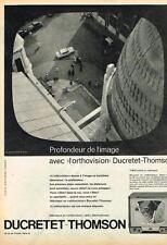 PUBLICITE ADVERTISING  1957 DUCRETET- THOMSON