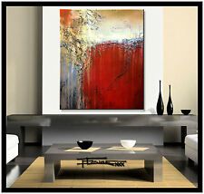 ABSTRACT MODERN CANVAS PAINTING WALL ART  Large, Framed, Signed US ELOISExxx