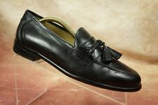 Johnston & Murphy Black Leather Moc Toe Tassel Loafers Shoes Mens Size 8 M US