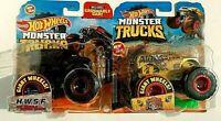 2020,19-Hot Wheels-2 Monster Trucks-#3/5 H.W.S.F,4 Wheel Hive-1:64-Boys-3+