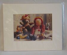 Teddy Bear and Raggedy Ann Print Signed by Weber