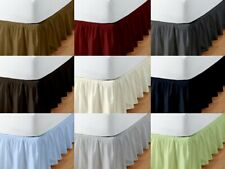 Gathered bed skirt Poly Cotton Multi Color & Size 18 Inch Drop