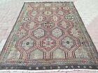 """Vintage Turkish Oushak Kilim Rug, Tribal Kelim, Floor Wool Rug 70""""X98"""" Area Rugs"""