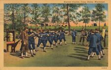 Postcard Military Bayonet Practice Army Camp Shelby Mississippi MS