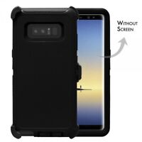 For Samsung Galaxy Note 8 Defender Rugged Case Cover w(Clip Fits Otterbox) BK