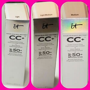 It cosmetics CC+ color correcting full coverage cream spf 50 ~3 shades~ NIB