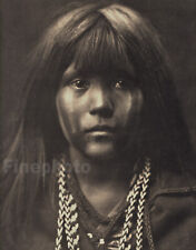 1900/72 Vintage EDWARD CURTIS Native American Indian Girl Mohave Photo Art 12x16