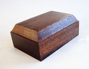 Plinth, Base for Models,Trophies,Figurines, etc.Rich Mahogany 9 x 6 cm. (CH)
