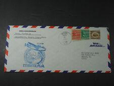 1941 VIA AIR MAIL MIAMI TO BELGIAN CONGO ROUTE ENVELOPE COVER PRE PEARL HARBOR
