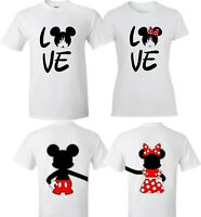 LOVE MICKEY AND MINNIE T-SHIRTS VALENTINE MATCHING COUPLES CUTE LOVE