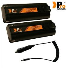 2 x  replacement batteries 1.5ah for paslode im350/350+incar charger