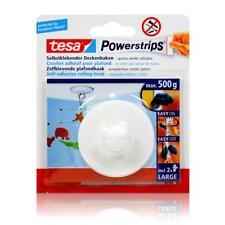 tesa Powerstrips Selbstklebender Deckenhaken - weiß für max. 500g Gewicht