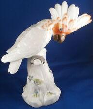 Large Meissen Porcelain Cockatoo Bird Figurine Porzellan Kakadu Figur Figure