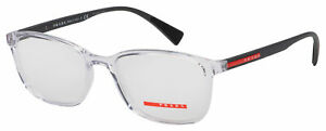 Prada Sport Eyeglasses PS 04IV 2AZ1O1 53 Transparent Frame [53-18-140]