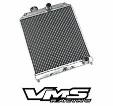 VMS RACING POLISHED ALUMINUM DUAL CORE RADIATOR FOR HONDA CIVIC DEL SOL EG EK