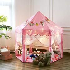 Kinderzelt Spielzelt Babyzelt Spielhaus Prinzessin Rosa Kids Tent MIT LED Light