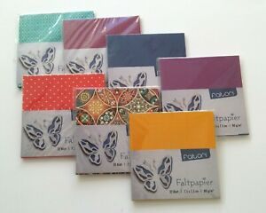 5 Sets Faltpapier Bascetta-Stern 7,5x7,5 cm Origami Papier -- freie Musterwahl -