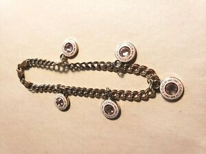 Coach Breast Cancer Awareness Pink Jeweled BCA  Sterling Bracelet