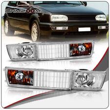 Clear - Front Bumper Fog Light + Turn Signal Lamp For 93-98 VW Golf Jetta Mk3