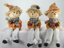 Scarecrow Shelf Sitters Fall Halloween Tabletop Decor Set of 3