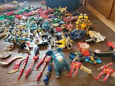 Huge Vintage Lot Bandai Power Rangers Figures Accessories Weapons Megazord 90s