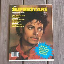 1984 Superstars Magazine / Thriller Poster Michael Jackson Collector's Issue