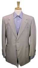 * YVES SAINT LAURENT * Rive Gauche Silver Gray Cotton Coin Button Blazer 42R