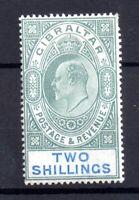 Gibraltar KEVII 1903 2/- green & blue mint LHM SG52 WS20931