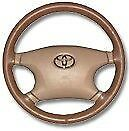 Toyota Genuine Leather Steering Wheel Cover - All Models Custom Wheelskins WSTY