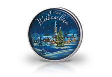 2 Euro mit Farbmotiv Frohe Weihnachten