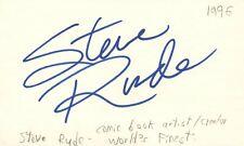 Steve Rude Comics Artist Creator World's Finest Autographed Signed Index Card