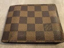 Authentic LV Louis Vuitton Damier Ebene Bifold Wallet. Used Condition.