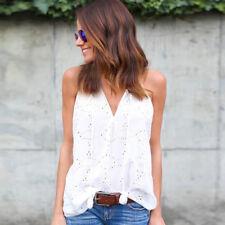 Sleeveless Top Women Fashion Summer Cotton T-Shirt Blouse Vest Casual Tank Tops