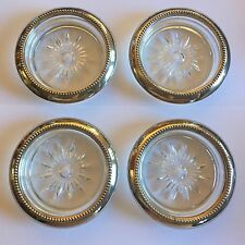 "W&S Blackinton Silver Plated Coaster Set - ""Member: Mentholatum 40 Year Club"""