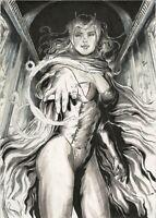 MARVEL Comics SCARLET WITCH Original Art AVENGER VISION THANOS ENDGAME X-MEN