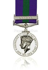 Full Size General Service Medal 1918-62 George VI GSM with Malaya Clasp