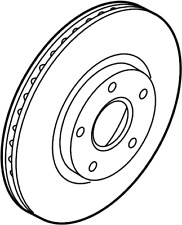 GENUINE FORD Front Disc Brake Rotor 2T1Z-1125-A BRRF-87 2010-13 Transit Connect