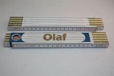 Zollstock mit  NAMEN   OLAF   Lasergravur 2 Meter Handwerkerqualität