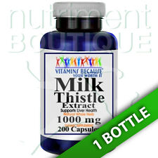 Milk Thistle (Silymarin) Extract 1000mg 200 Capsules by Vitamins Because