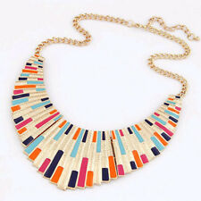 Colorful Enamel Statement Necklace